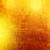 Gold metallic background.
