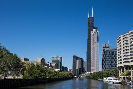 foto of willy  - Various Chicago skyscrapers including the Willis Tower  - JPG