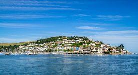image of dartmouth  - Kingswear on the Dart Estuary Viewed from Dartmouth - JPG