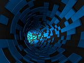 picture of fi  - Abstract 3d rendering of futuristic tunnel - JPG