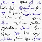 picture of contract  - Collection of handwritten signatures - JPG