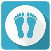 picture of flat-foot  - foot blue flat icon   - JPG