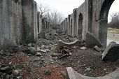 foto of illinois  - The remains of a ruined building that was a part of the Joliet Ironworks in Joliet - JPG