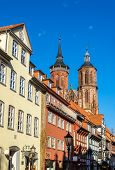 picture of timber  - Street in Gottingen with traditional timbered buildings  - JPG