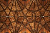 picture of vault  - Gothic wooden vaulted ceiling in the Grote Kerk  - JPG