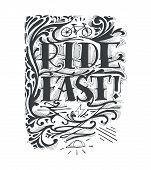 Постер, плакат: Ride Fast