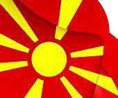 image of macedonia  - 3D Flag of the Macedonia - JPG