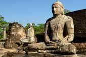 foto of vihara  - Polonnaruwa ruin was the second capital of Sri Lanka after the destruction of Polonnaruwa - JPG