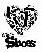 image of webbed feet white  - Shopping  vector illustration of shoes - JPG
