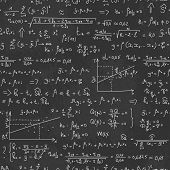 pic of formulas  - School seamless vector doodle pattern with different mathematical formulas and values - JPG