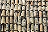 image of roof tile  - Vertical image of a tile roof house - JPG