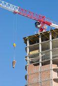 stock photo of construction crane  - construction crane - JPG