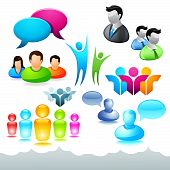 People Network Icons and Elements