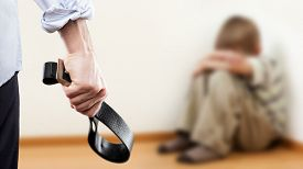 foto of punish  - Family violence and aggression concept  - JPG