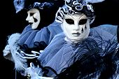 Two people dressed as Pierrot