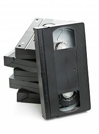 image of analogy  - Stack of analog video home system  - JPG