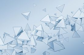 image of pyramid shape  - Abstract 3d rendering of chaotic shapes - JPG