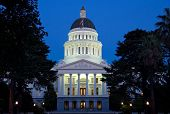 California State Capitol at night