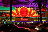 Flamingo Casino in Las Vegas at night