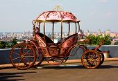 stock photo of cinderella coach  - Classic carriage in Kyiv Ukraine - JPG