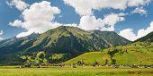 Village In The Alps, Austria