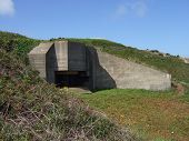 foto of emplacements  - german war gun bunker on Jersey deserted from world war 2 - JPG