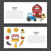 Vector Cartoon Farm Market Background poster