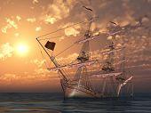 The sailboat sank after a serious storm