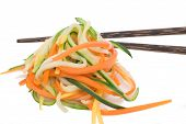 Vegetable Spaghetti With Chop Stick