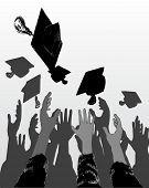 illustration of graduation day celebration