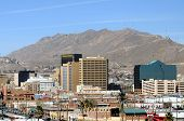 EL PASO - FEB 27: Downtown El Paso seen from Mexico on February 27, 2009 in El Paso. El Paso is one