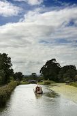Narrow-boat on the Kennet and Avon Canal