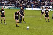 LONDON - MAY 1: Dave Walder, London Wasps fly-half, prepares to take a penalty. Amlin Challenge cup