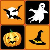 An illustration of Halloween elements