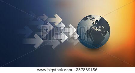 3d Earth Globe Design Layout