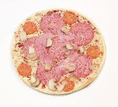 Frozen Pizza With Salami And Ham