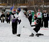 Finnish Championships 2010 of Yukigassen snowball fighting