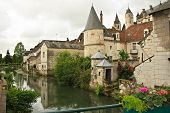 foto of anjou  - Located in the town of Loches high above the Indre River - JPG