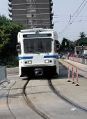 Light Rail Train Head On