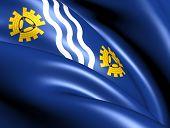 Flag Of Merseyside, England.