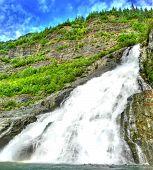 Snowmelt Waterfall poster