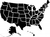 stock photo of the united states america  - Very detailed vector file of all fifty states - JPG