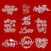 Love  Vector Lettering For Patches And Stickers - Creative Set Incuding Inscriptions: Love, With Lov poster