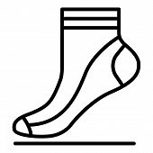 Kid Sock Icon. Outline Kid Sock Icon For Web Design Isolated On White Background poster