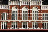 Постер, плакат: Центральный железнодорожный вокзал в Амстердам Нидерланды