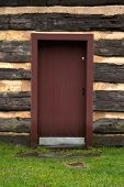 Red Cabin Door