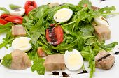 Quail Eggs And Tongue Salad
