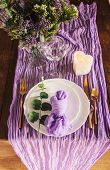 Gauze Runner For Weddings Events, Centerpieces Runner, Cheese Cloth Runner, Table Hand Dyed Runner,  poster