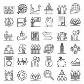 Corporate Governance Icons Set. Outline Set Of Corporate Governance Vector Icons For Web Design Isol poster