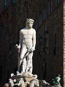 Fountain of Neptune by Bartolomeo Ammannati in the Piazza della Signoria Florence